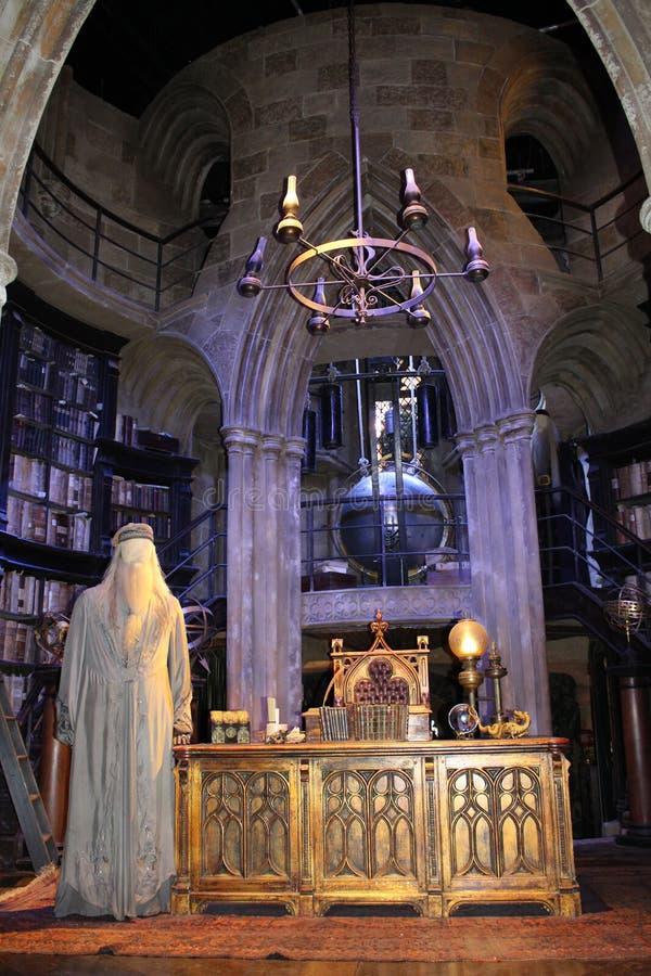 Estúdios da WB no plateau de filmagem de Londres - de Harry Potter fotografia de stock