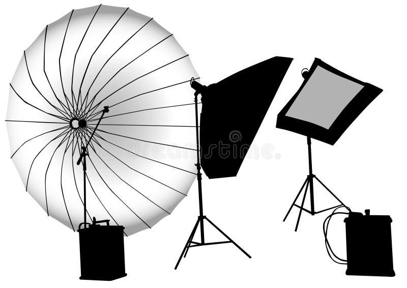Estúdios fotográficos ilustração stock