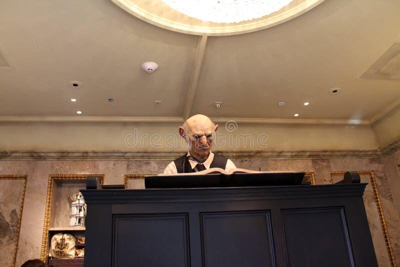 Estúdios universais de Harry Potter do banqueiro fotos de stock