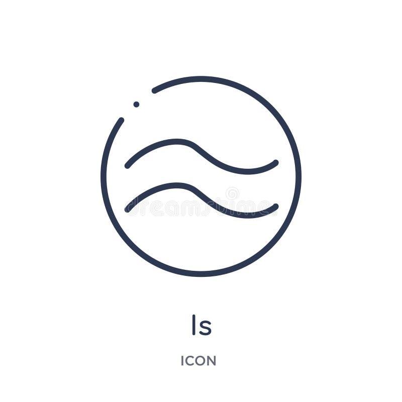est approximativement égal à l'icône des formes et de la collection d'ensemble de symboles La ligne mince est approximativement é illustration stock