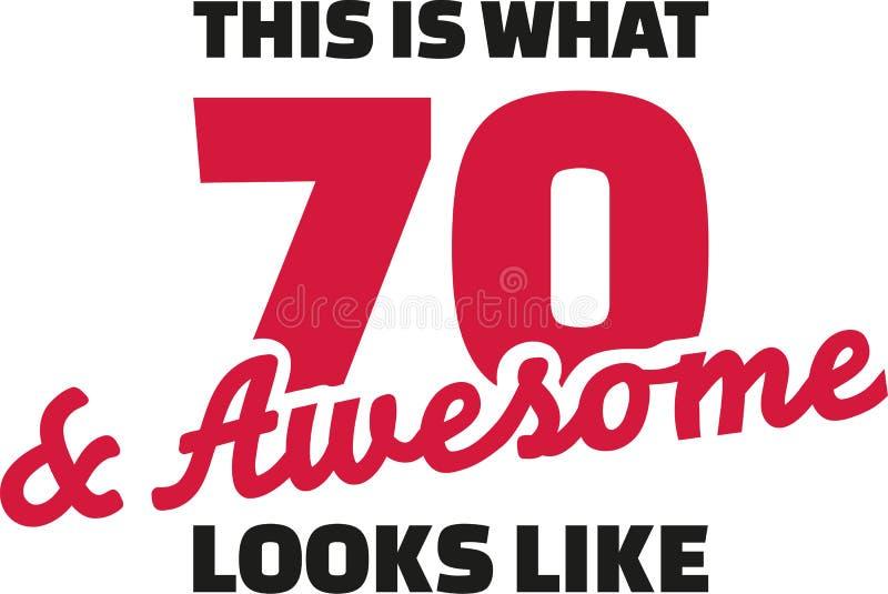 Est ce ce que 70 et regards impressionnants aiment - soixante-dixième anniversaire illustration stock