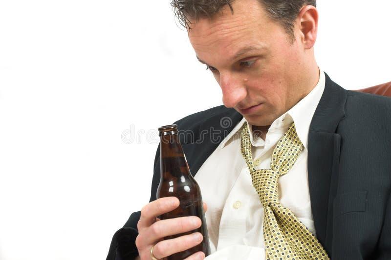 Est-ce que j'ai bu tout cela ? photo stock