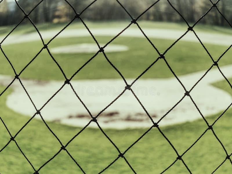 Est?dio do basebol Grama verde no campo de basebol fotografia de stock royalty free