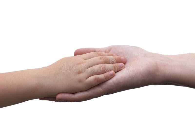 Est les mains, la mère et le fils de fixation photos libres de droits