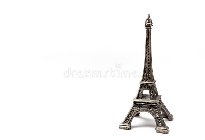 Est?tua da torre Eiffel isolada no fundo branco foto de stock royalty free