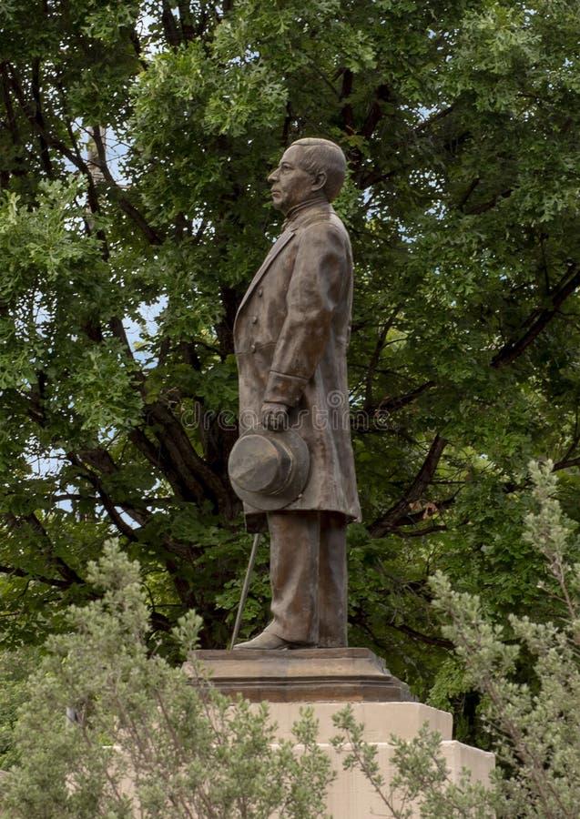 Est?tua de bronze de Benito Juarez em Benito Juarez Parque de Heroes, Dallas City Park em Dallas, Texas foto de stock