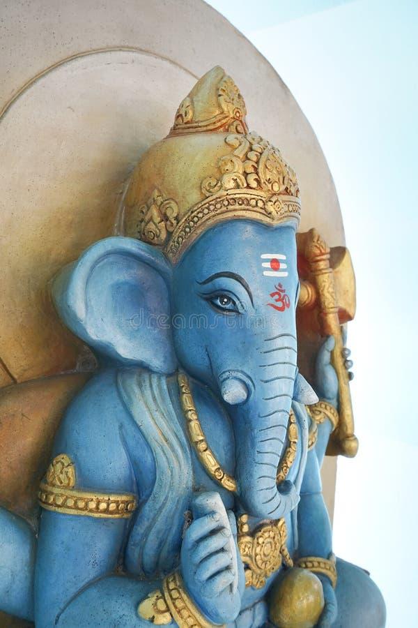 Est?tua de Ganesha no templo p?blico em Chachoengsao Tail?ndia fotografia de stock royalty free