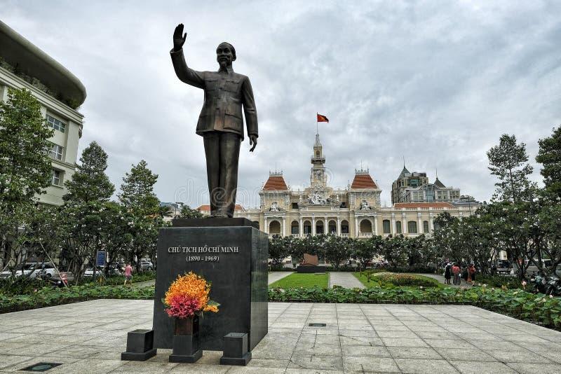 Est?tua de Ho Chi Minh em Ho Chi Minh City, Vietname imagens de stock