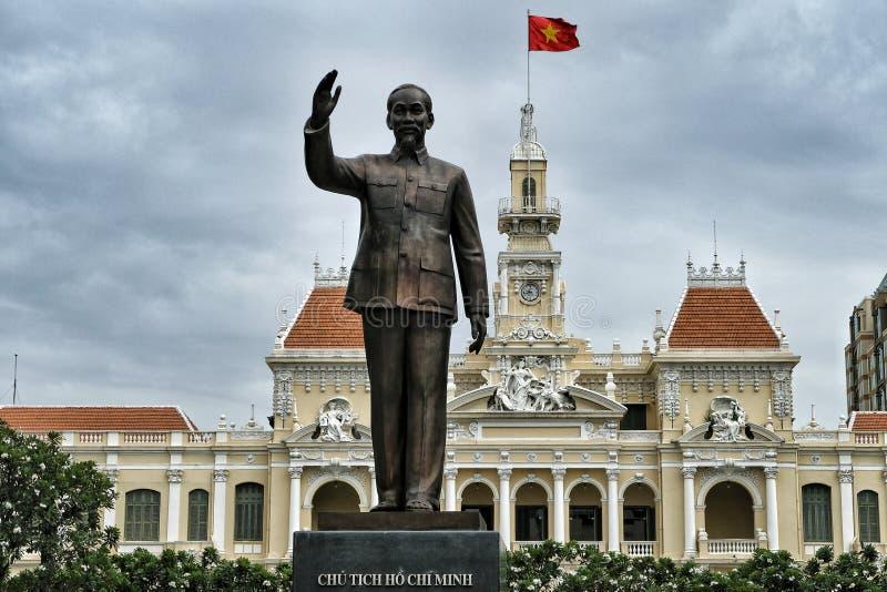 Est?tua de Ho Chi Minh em Ho Chi Minh City, Vietname foto de stock royalty free