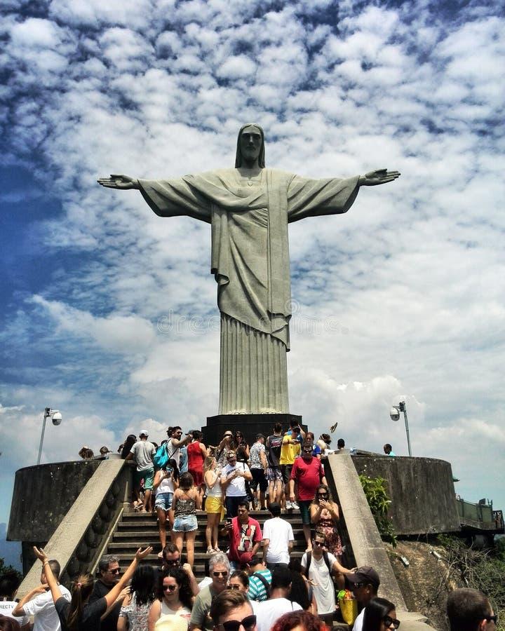 Est?tua de Jesus Christ em Rio de janeiro imagem de stock