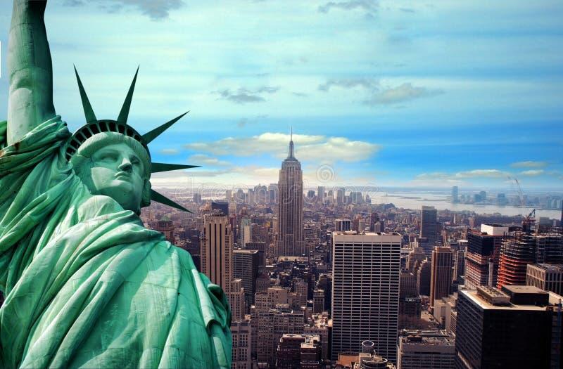 Est?tua de liberdade, New York City ilustração do vetor