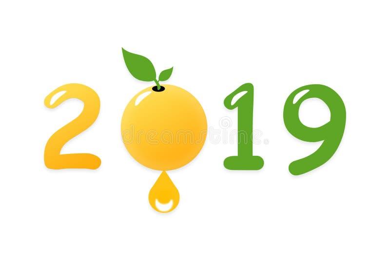 2019 est une bonne année pour la croissance des affaires environnementales Environnement vert et bio sous forme d'année 2019 image stock