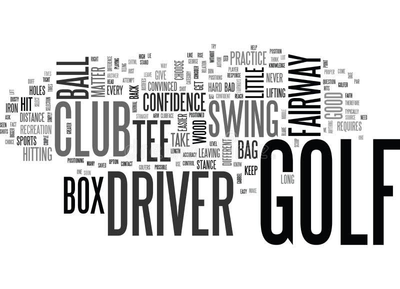 Est votre concept d'A Little Dusty Text Background Word Cloud de conducteur de golf illustration stock