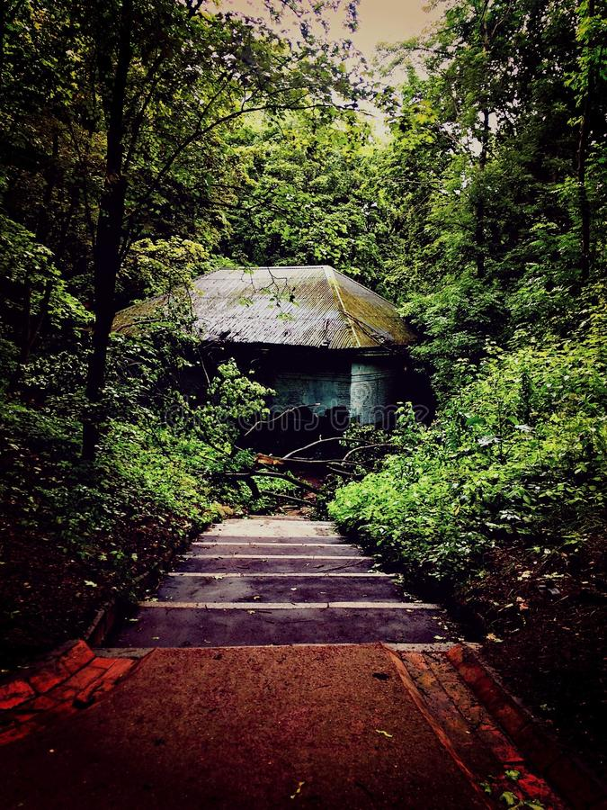 Estação abandonada foto de stock