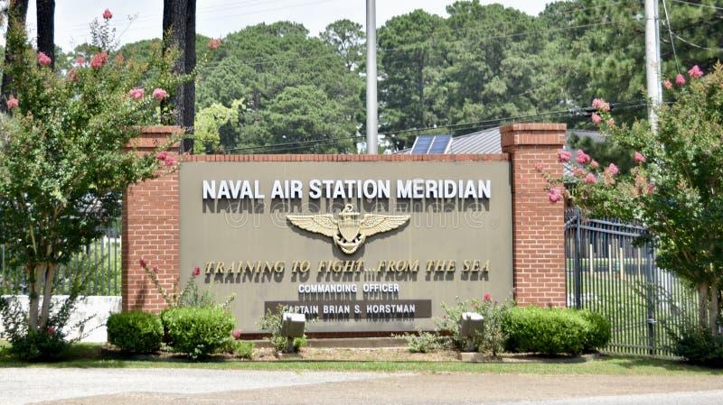 Estação aeronaval Mississippi meridiano fotografia de stock
