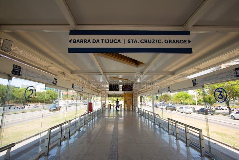 Estação brilhante em Barra da Tijuca imagens de stock