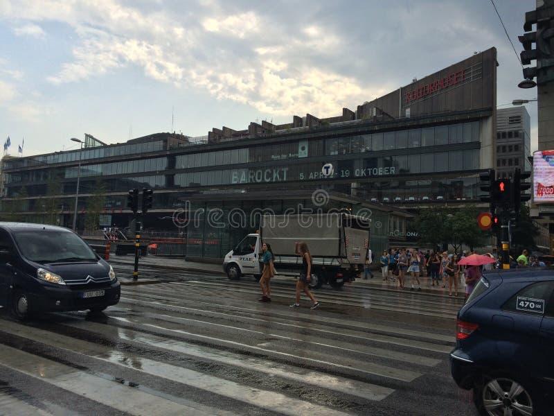 Estação central de T de Éstocolmo do centro imagens de stock royalty free