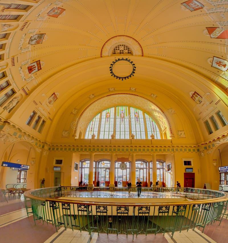 A estação central histórica em Praga, República Checa fotografia de stock