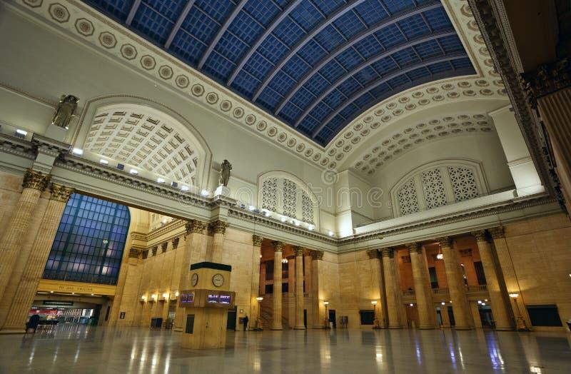 Estação Chicago da união. fotos de stock royalty free