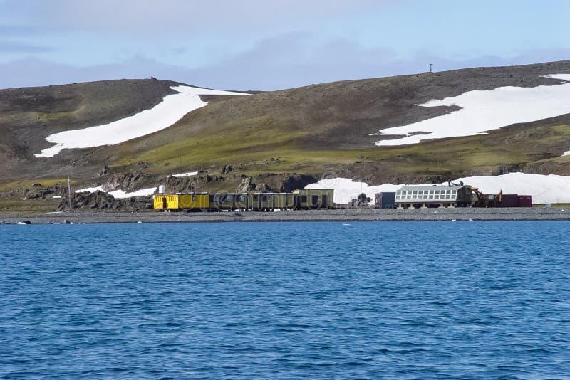 Estação científica na Antártica foto de stock