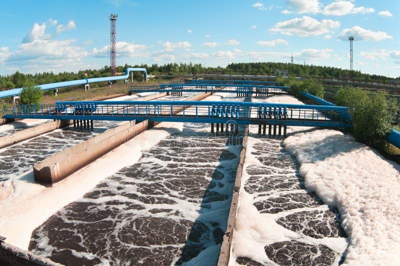 Estação da água de esgoto de água fotografia de stock