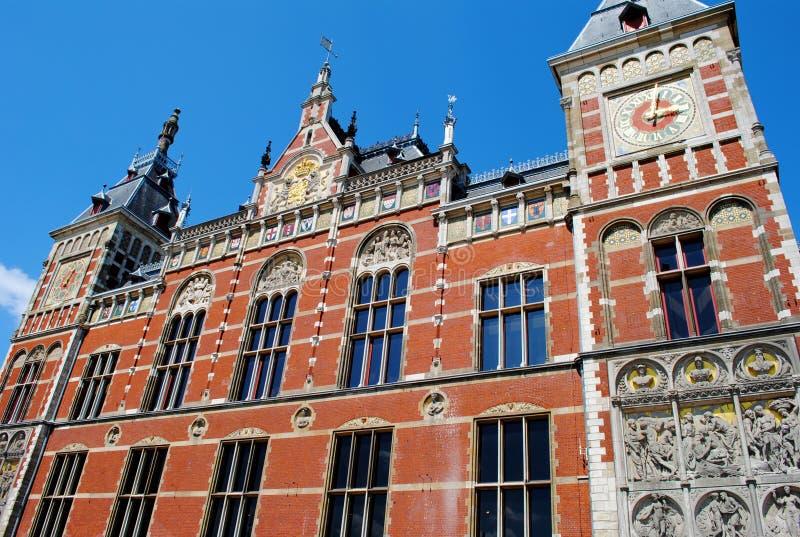 Estação da central de Amsterdão imagem de stock