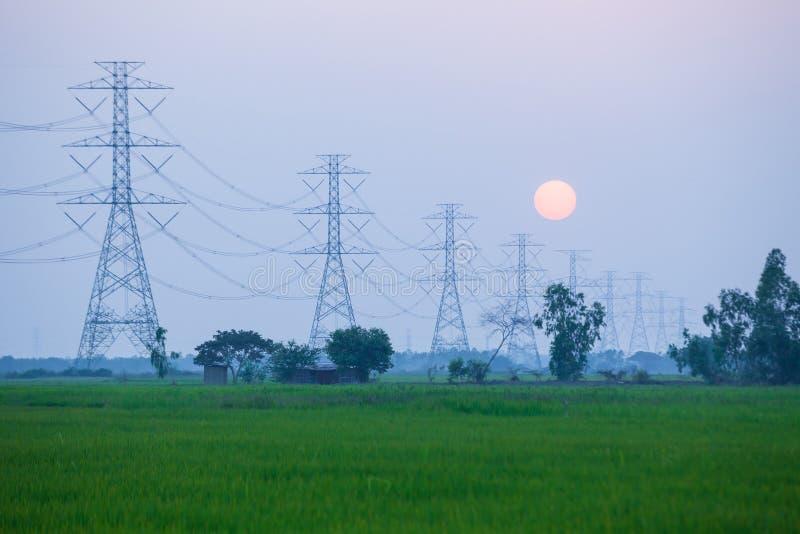 Estação da energia elétrica fotos de stock