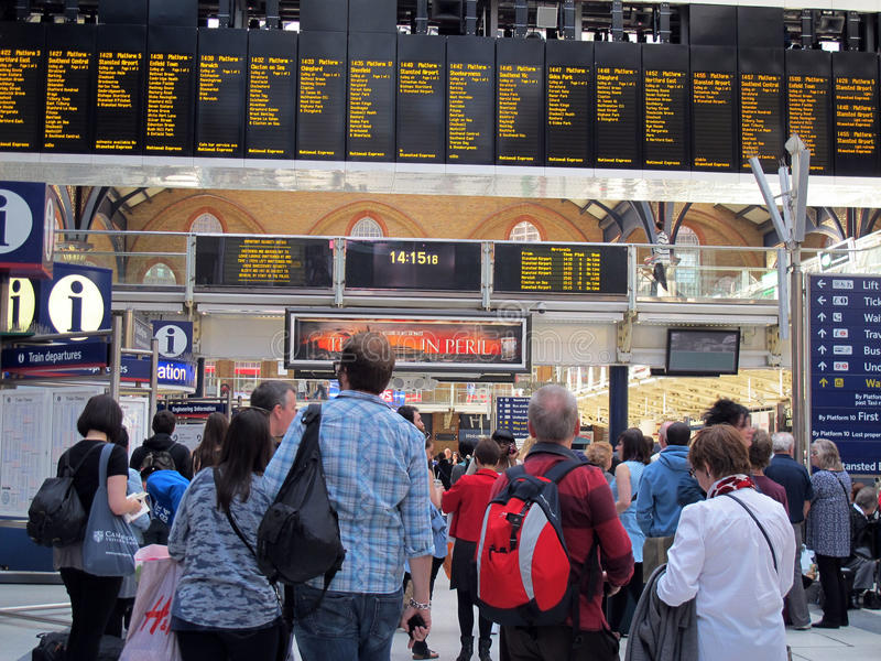 Estação da rua de Liverpool, Londres foto de stock