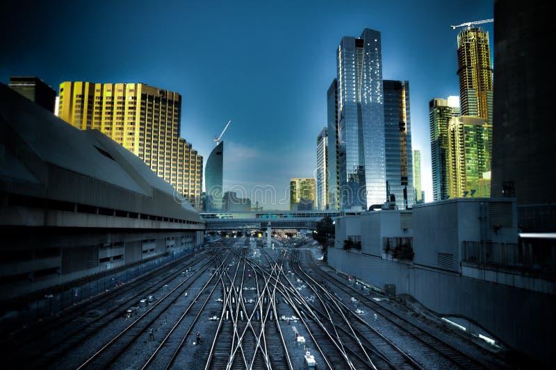 Estação da união da jarda Railway de Toronto imagem de stock royalty free