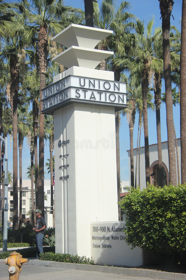 Estação da união de Los Angeles imagem de stock