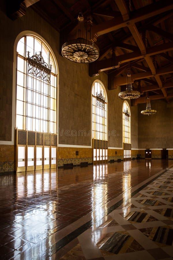 Estação da união de Los Angeles que Ticketing Salão foto de stock