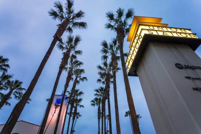 Estação da união, Los Angeles do centro, Califórnia, Estados Unidos da América imagens de stock