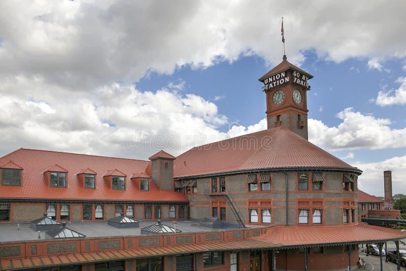A estação da união para Amtrak treina Portland Oregon 2 imagens de stock