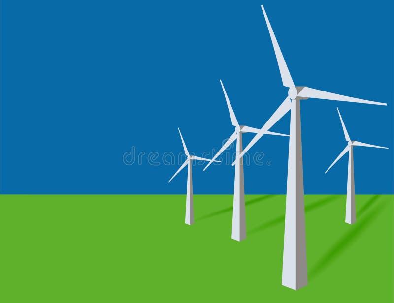 Estação das energias eólicas ilustração royalty free