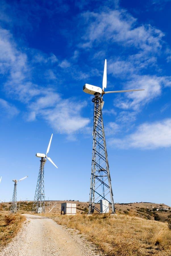 Estação das energias eólicas fotos de stock royalty free