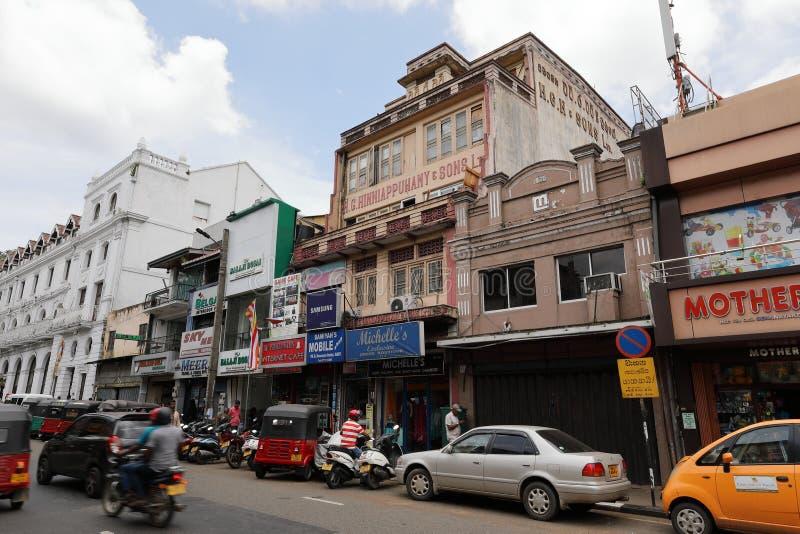 A estação de ônibus de Kandy em Sri Lanka fotos de stock