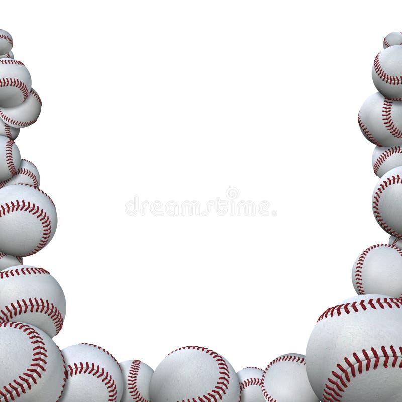 A estação de basebol do formulário de muitos basebol ostenta a beira ilustração do vetor