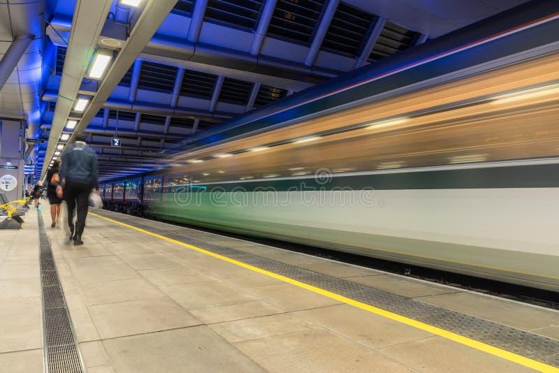 Estação de Blackfriars em Londres imagens de stock