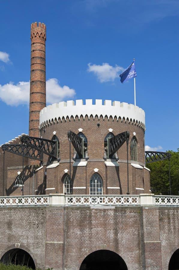 Estação de bombeamento holandesa antiga Cruquius, Heemstede fotos de stock royalty free
