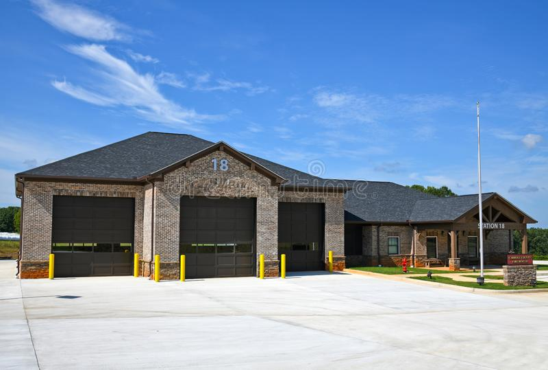 Estação de Bombeiros e Salvamento de New Carroll County Georgia imagem de stock