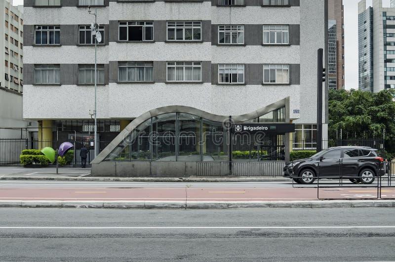 Estação de Brigadeiro na avenida de Paulista, SP Brasil de Sao Paulo foto de stock royalty free