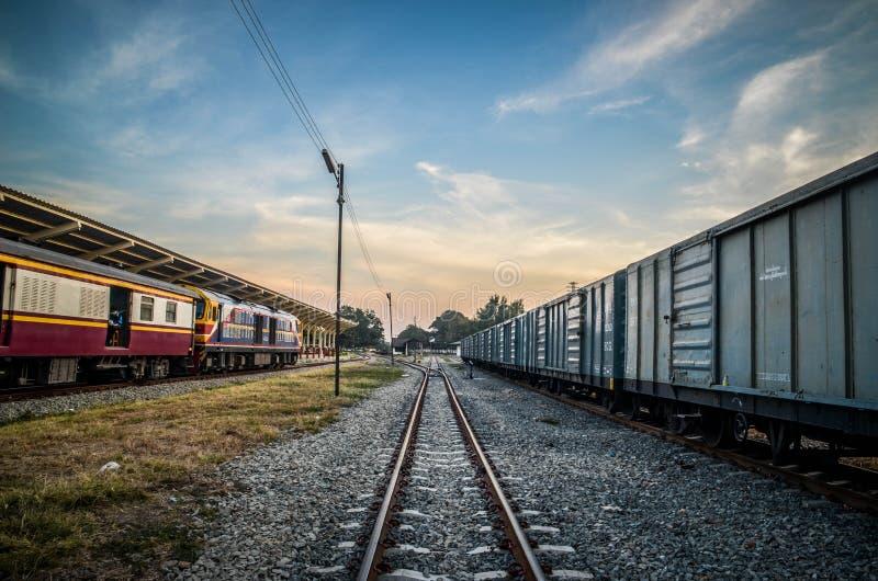 Estação de caminhos-de-ferro fotografia de stock royalty free