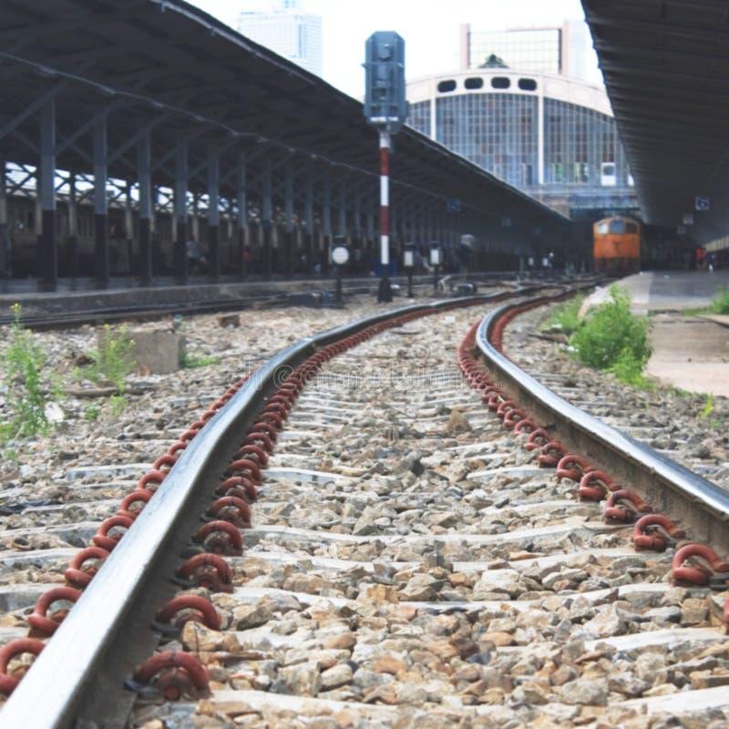 Estação de caminhos-de-ferro borrado obscuridade foto de stock