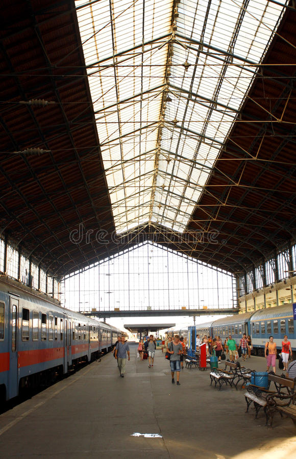 Estação de caminhos-de-ferro Budapest imagem de stock