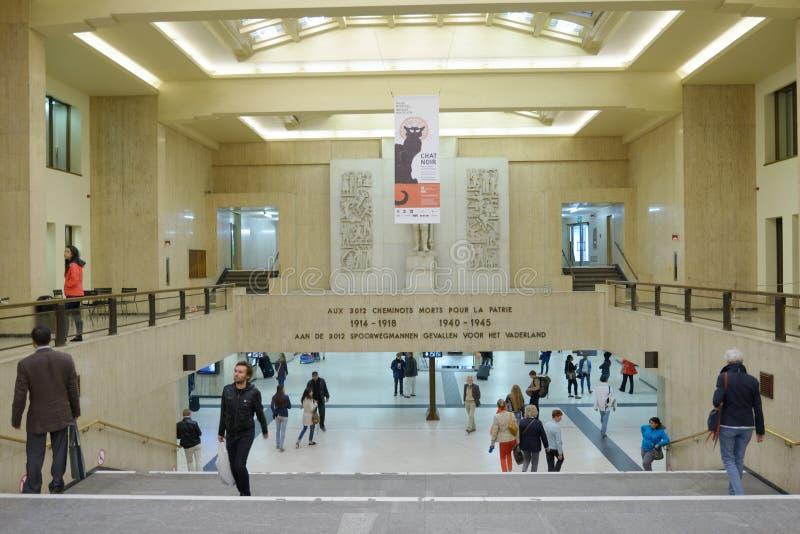 Estação de caminhos-de-ferro central de Bruxelas imagem de stock royalty free