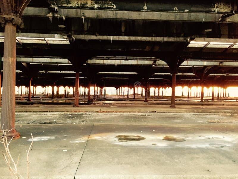 Estação de caminhos-de-ferro da história fotografia de stock