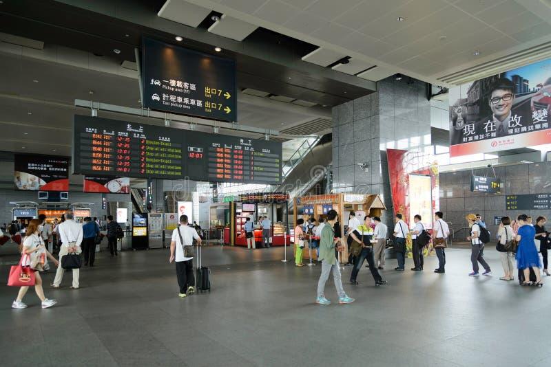 Estação de caminhos-de-ferro de alta velocidade de Taichung em Taiwan fotos de stock