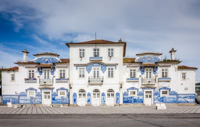 Estação de caminhos-de-ferro de Aveiro, Portugal imagens de stock