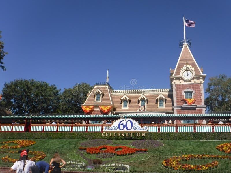 Estação de caminhos-de-ferro de Disneylândia imagens de stock royalty free