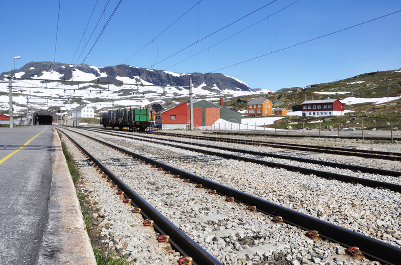 Estação de caminhos-de-ferro de Finse foto de stock